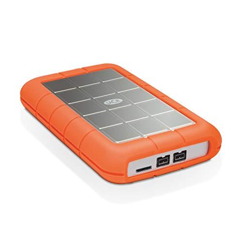 LaCie 301558 Rugged MINI Hard disk Esterno, Arancione/Grigio, 1 TB