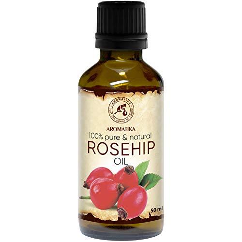 Aceite de Rosa Mosqueta 50ml - Rosa Canina Fruit Oil - Chile - 100% Puro y Natural - Prensado en...