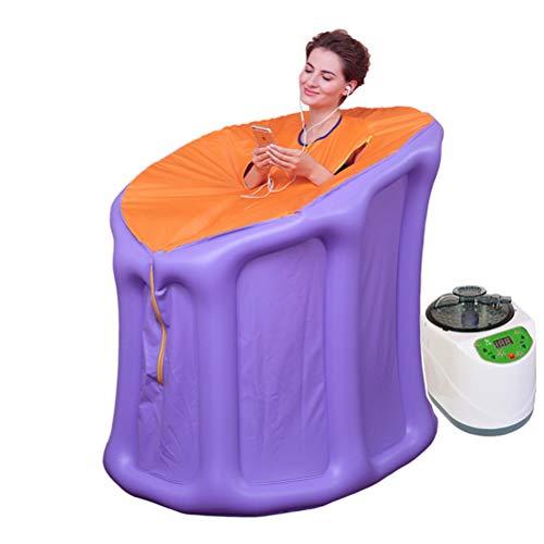 Wanforjewellery Tragbare Dampfsauna, Faltbare Saunakabine für den ganzen Körper (Dampferzeuger 2/3 / 4L) (Lila),2L+1000W