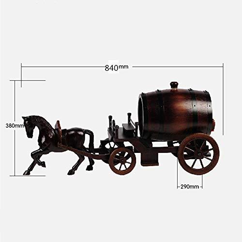 Botte Whisky Rovere Botte Di Vino, In Legno Massello Intagliato A Mano Auto A Cavallo Rovere Botte...