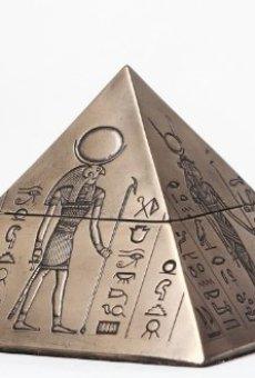PTC Dioses Egipcio Caja de Caja con Forma de pirámide Egipto Joyas contenedor Figura Estatua 8076