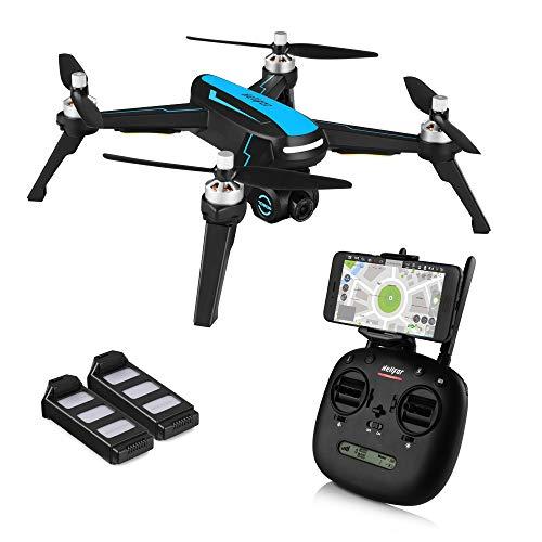 HELIFAR B3 FPV Drone 1080p HD Camera Live Video, GPS RC Drone 5G WiFi Transmission,Motore Brushless, Funzione di Seguirmi, 36km/h per Adulti Principianti, Due batterie
