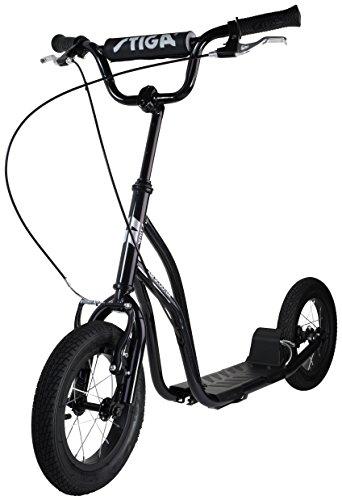Stiga STR Air 12 Zoll Kickscooter, Black, One Size