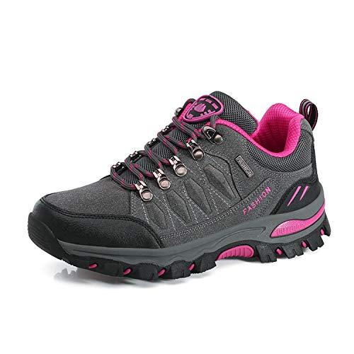 WOWEI Zapatos de Senderismo Al Aire Libre Ocio Deportes Escalada Trekking Sneakers Zapatos de Montaña para Mujer Hombre