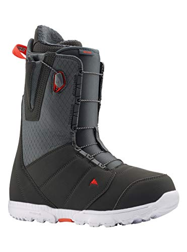 Burton Moto, Scarponi da Snowboard Uomo, Gray/Red, 9.5