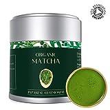 Té Verde Matcha - Orgánico 30g | Premio Ceremonial Japonés | Bio Orgánico certificado por JAS Japan EU Organic | Producto de Uji Kyoto Japan | Mejor para la pérdida de peso, Vegan & Healthy | Lot M13