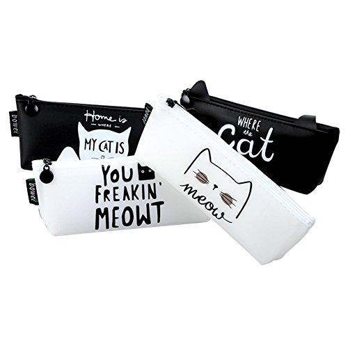 kanggest moda tela Astucci di gel di silice cartamodello di alfabeto di gatti divertente creativo...