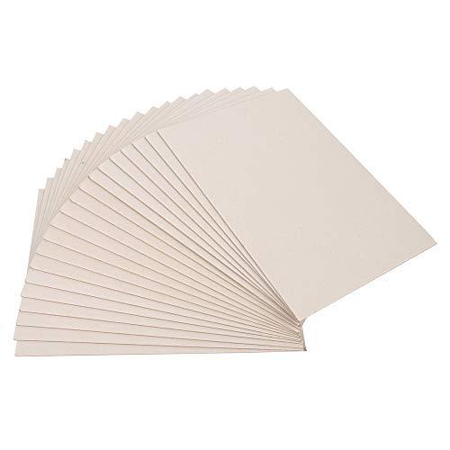 ewtshop® 20 Blatt Graupappe DIN A4, Stärke 2mm, 1230 g/qm, Buchbinderpappe, Kalender, Modellbaupappe, Bastelpappe
