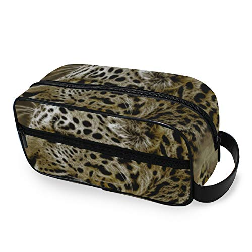 Wild Animal Mammal Leopard - Trousse per trucchi e cosmetici, per donne e ragazze, multifunzione, in...