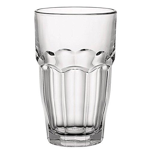 Bormioli Rocco 5154365 Confezione 6 Bicchieri in Vetro Rockbar S/Cooler 65 Arredo Tavola, Trasparente