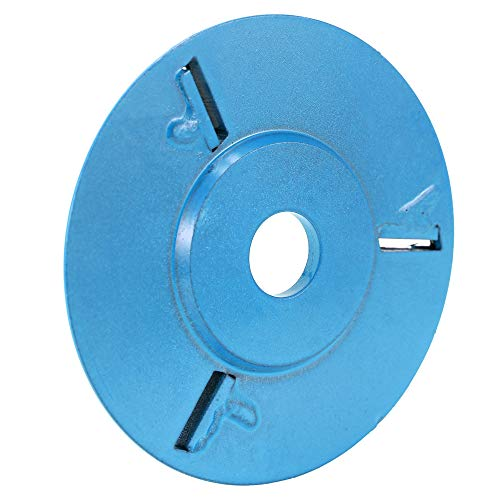 Anself Three Teeth Woodworking Turbo Tea Tray Digging Wood Carving Disc Tool Milling Cutter for 16mm Aperture Angle Grinder