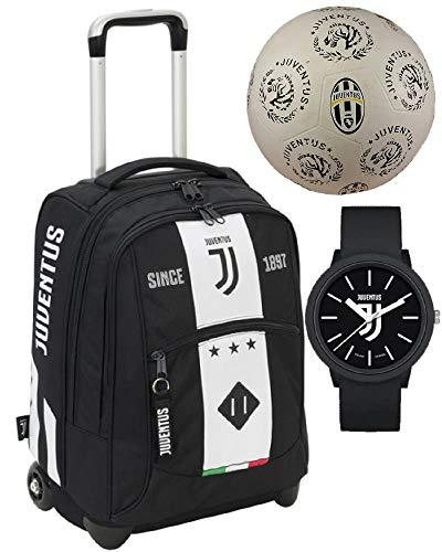 Juventus JJ Zaino Trolley Scuola + Pallone Calcio Gomma Juve PS 13014