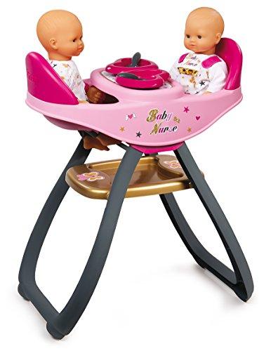 Smoby- Baby Nurse Seggiolone Gemelli, Colore aucune, 7600220315