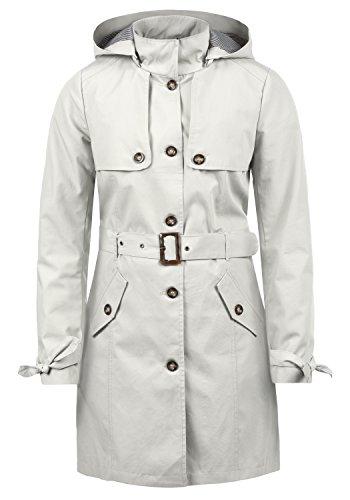 Desires Tina Giacca Trench Coat Transitorio da Donna con Cappuccio, Taglia:M, Colore:Glacier Gr (2210)