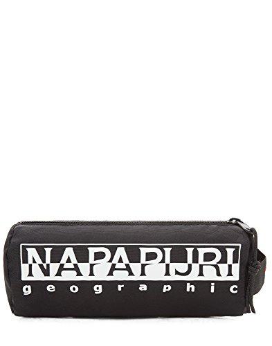 Napapijri HAPPY PENCIL CASE Astuccio, 22 cm, Nero (Black), poliestere