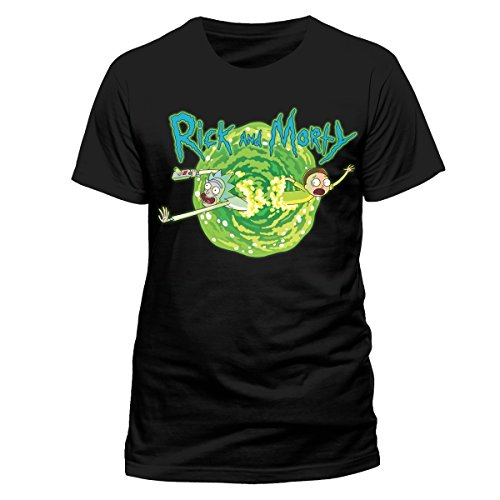 Rick and Morty T-Shirt Black Portal Size XXL shirts
