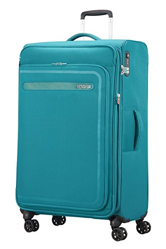 American Tourister Airbeat - Spinner 80/30 Expandable Bagaglio a mano, 80 cm, 112 liters, Blu (True...