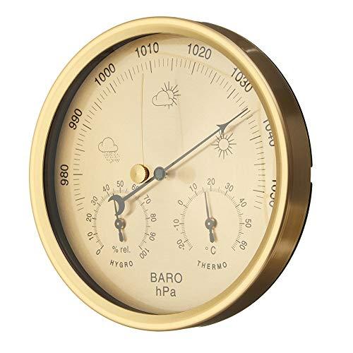 Plentaude 3-in-1 Multi-Function Hangable Barometer Hygrometer Indoor Outdoor Thermometer Humidity Gauge for Home Office