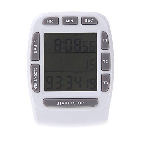 Anself Digitale Timer da Cucina con Display LCD Allarme Cronometro ...
