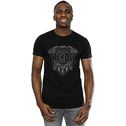 AC/DC hombre Black Ice Camiseta Large Negro