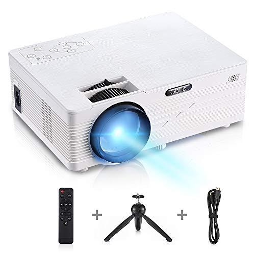 GBTIGER Full HD 2500 Lumens Proiettore Lavagna luminosa Proiettore LED video portatile Supporta...