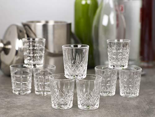 Queensway Bicchierini da shot di alta qualità, 12x Pompei Shot Glasses