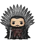 Funko- Pop Deluxe: Game of S10: Jon Snow Sitting on Iron Throne Figura Coleccionable, (37791)