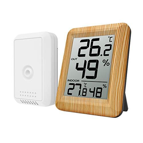 Oria Termometro Igrometro Digitale Wireless, Misuratore Temperatura umidità per Interno Esterno,...