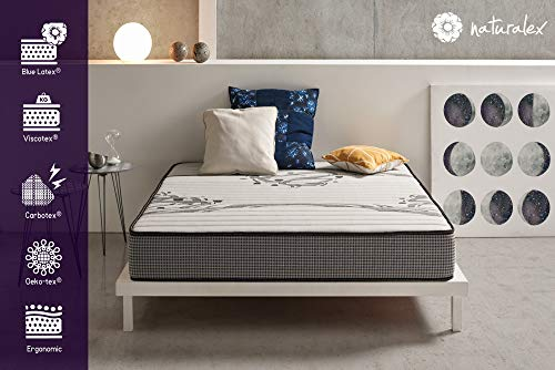 naturalex – MEMOSLEEP – Materasso Matrimoniale 160x200 cm in Lattice e Memory Multistrato ad...