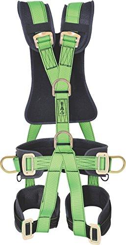Karam Nylon Full Body Harness PN-56 Adjustable shoulder, thigh-straps and waist belt - Black and Green