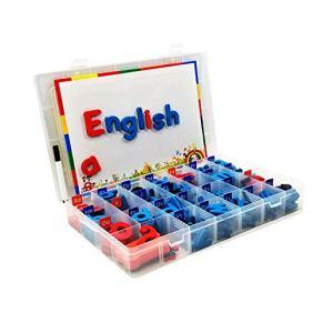 Letras magnéticas, juego de 104 imanes de alfabeto de espuma con tabla de dibujo, juguete educativo para preescolar, aprender ortografía