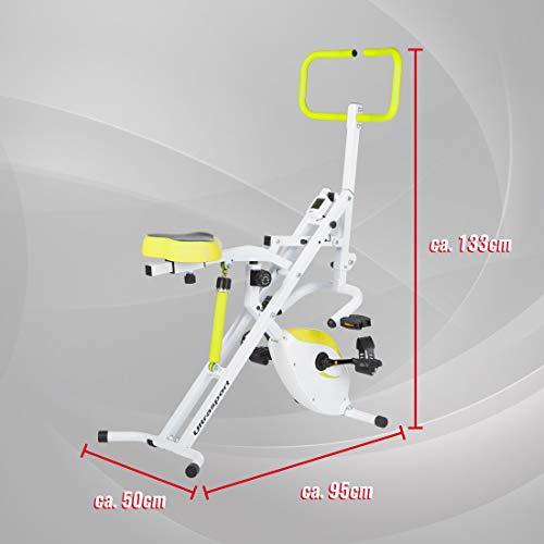 Ultrasport F-Rider 2 en 1, y compris F-Bike, entraîne tout le corps, appareil de cardio-training, Vert 29