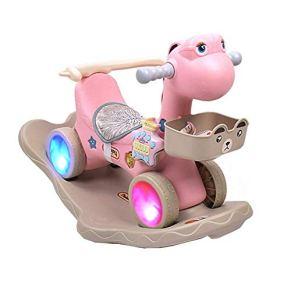 LGP Niño pequeño Rocker Baby Rocking Horse Animal Horse Plastic Child Ride on Toy con función de música Walkers Rocker…
