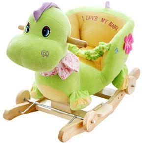 YULAN Bebé Trojan Juguete Música Aprendizaje temprano Silla de Caballo Mecedora Regalo del Coche Enviar Summer Cool Pad