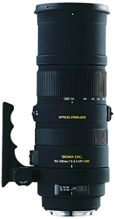 Sigma 150 - 500 / 5,0 - 6,3 DG APO HSM OS - Objetivo para Canon (distancia focal 150-500mm, apertura f/6.3, estabilizador, diámetro: 9.47 centimeters) color negro