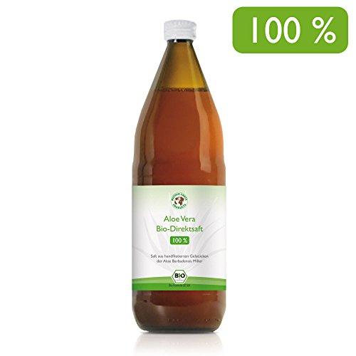 Succo 100% organico Aloe Vera Premium Filettato a mano | Ricco di ingredienti naturali | Aloverosio medio 1200mg / l |Bottiglia da 1 litro | 1 x 1000 ml