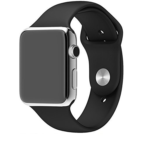 House of Quirk iWATCH Silicon Strap Band 42Mm - Black (Watch Not Included)