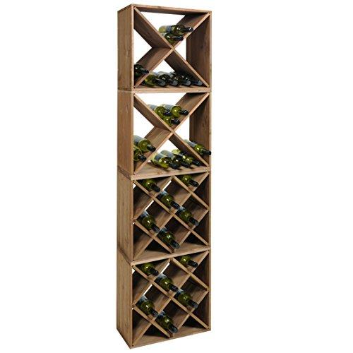 Set 4 Moduli Cantinetta - Scaffale vino - Rack Portabottiglie - n° 2 Moduli 'X' & n°2 Moduli...