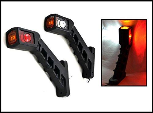 2X LED luce di ingombro Positions begrenzungs lampada luce demarcazione per camion e rimorchio...