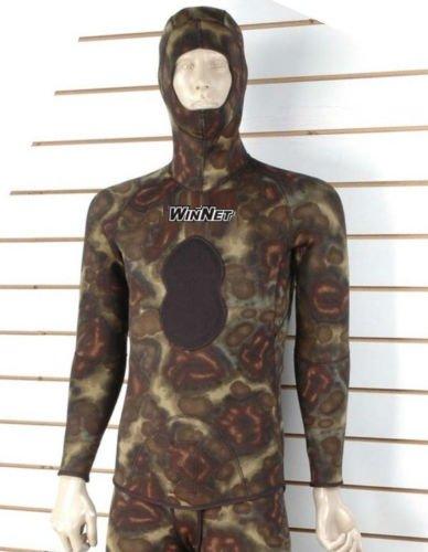 WinNet giacca mimetica di muta per pesca subacquea apnea 7 mm invernale