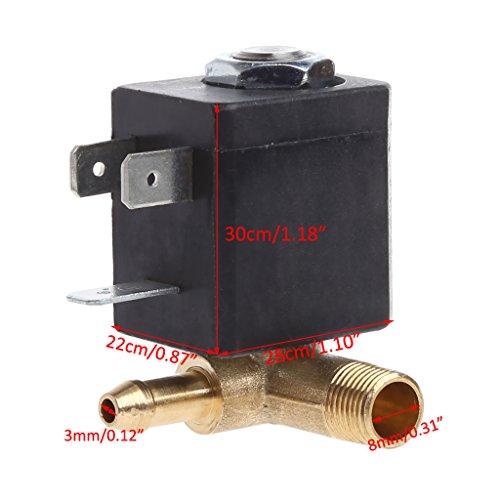 """FATTERYU Cánula N/C AC 230V G1 / 8""""Generador de Aire de Vapor de latón Válvula solenoide de Agua Café"""