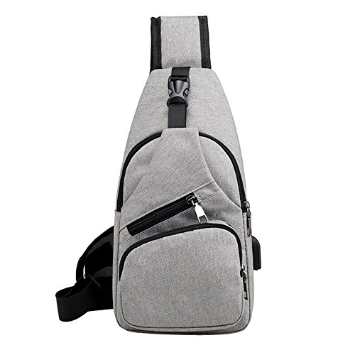 BANQLYN Shoulder Bags USB Charging Crossbody Bags Men Anti Theft Chest Bag School Summer Short Trip Messengers Bag (Colour May Vary)