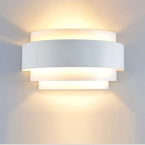 Unimall 5W Lampada da Parete a LED Applique da Parete Interni Decorazione per Sala Soggiorno Corridoio 3200k Bianco Caldo