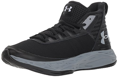 Under Armour Unisex-Kinder Grade School Jet 2018 Basketballschuhe, Schwarz (Black 3020948-002), 39 EU