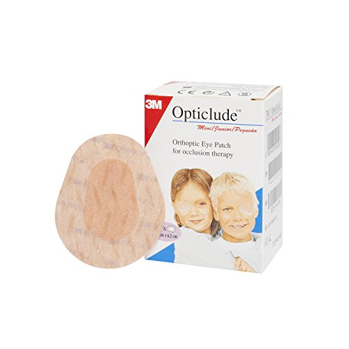 Opticlude 1537 Orthoptic Boy's and Girl's Junior Eye Patches Coloured - Mini Size, Pack of 20