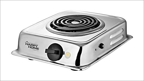 LOGOTTO Model G. Coil Happy Home Steel Hot Plate Electric Stove (Silver)