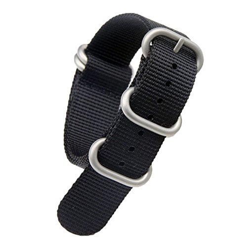 18 millimetri nero high-end stile NATO superiore nylon balistico sostituzione cinturino cinturino intrecciato per gli uomini