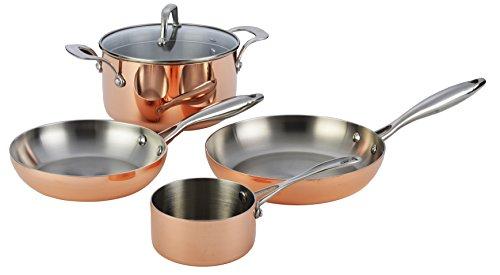 Borella Haushaltsprodukte Kupfer Topfset, Edelstahl, Kupfer, 5Einheiten