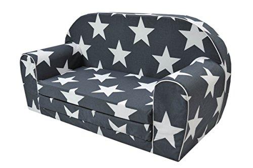 MoMika bambini Divano | I bambini Divano letto | Bambino pieghevole 2-in-1 divano e letto | 0-4 anni (Stars)