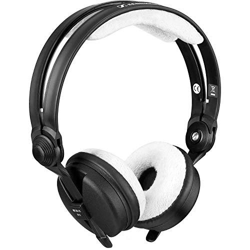 Zomo HD25 TEDDY - Juego de fundas de orejeras y de diadema para auriculares (acolchadas), color blanco